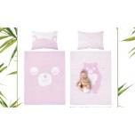 "2-osaline voodipesu komplekt ""Roosa Mõmmi"""